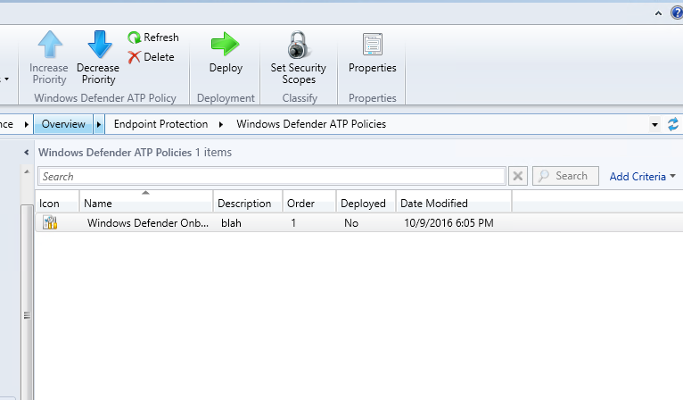 Windows Defender ATP – Onboarding Endpoint with Configuration