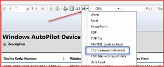 ConfigMgr 1802 TP – Report on Windows AutoPilot device information